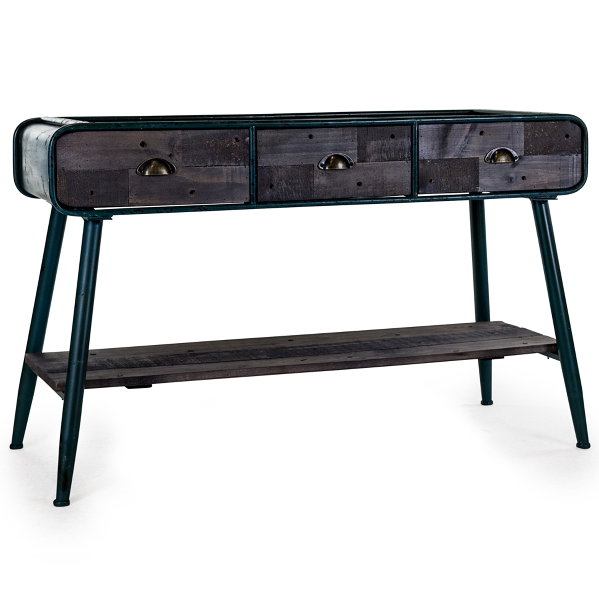Industrial console table desk