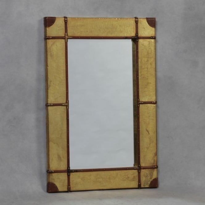 Industrial Gold Wall Mirror