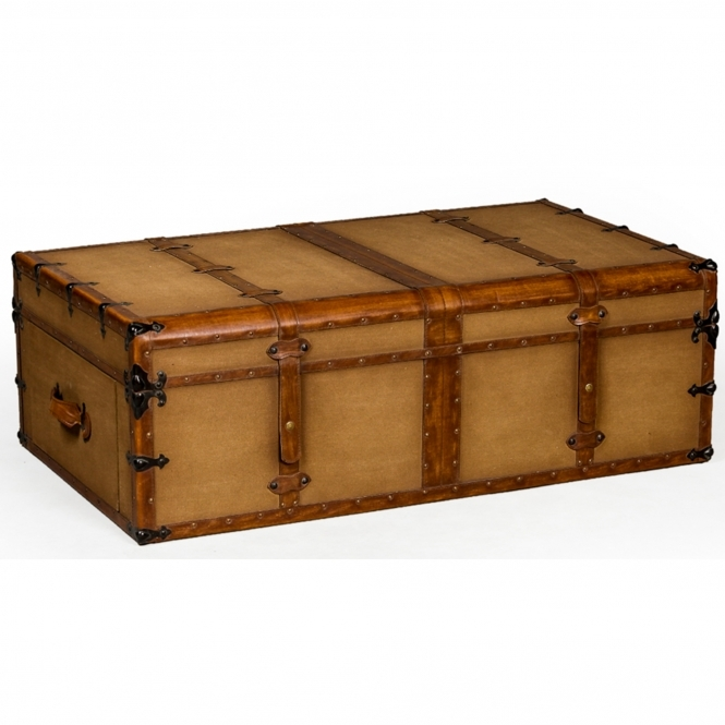 Industrial Streaker Trunk Style Coffee Table