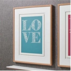 Inside Love Teal Blue Framed Art