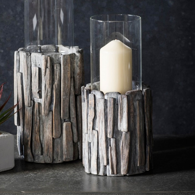 Invicta Small Driftwood Votive Candle Holder