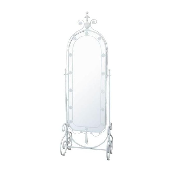 Iron Antique French Style Cheval Mirror