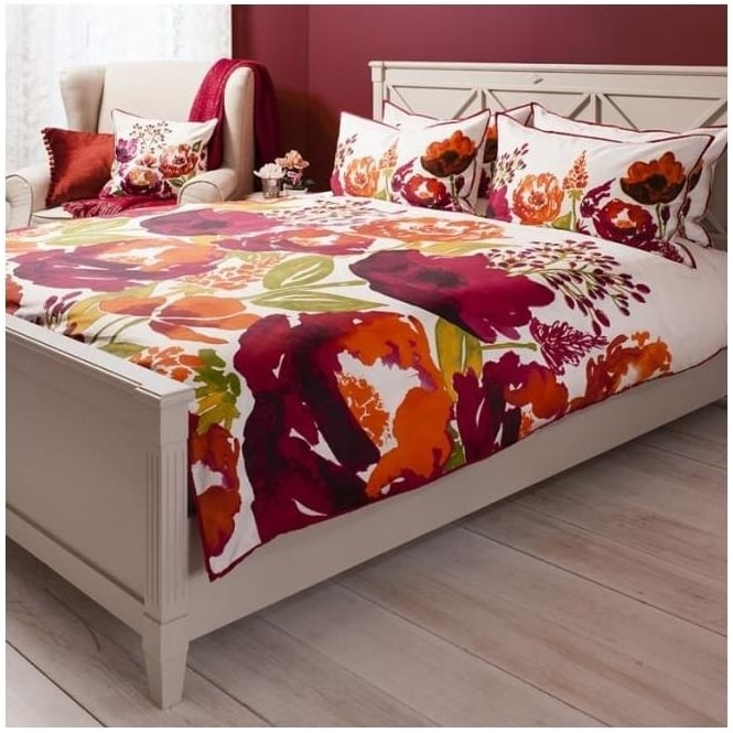 Isabella Burnt Orange Watercolour Quilt Cover Set