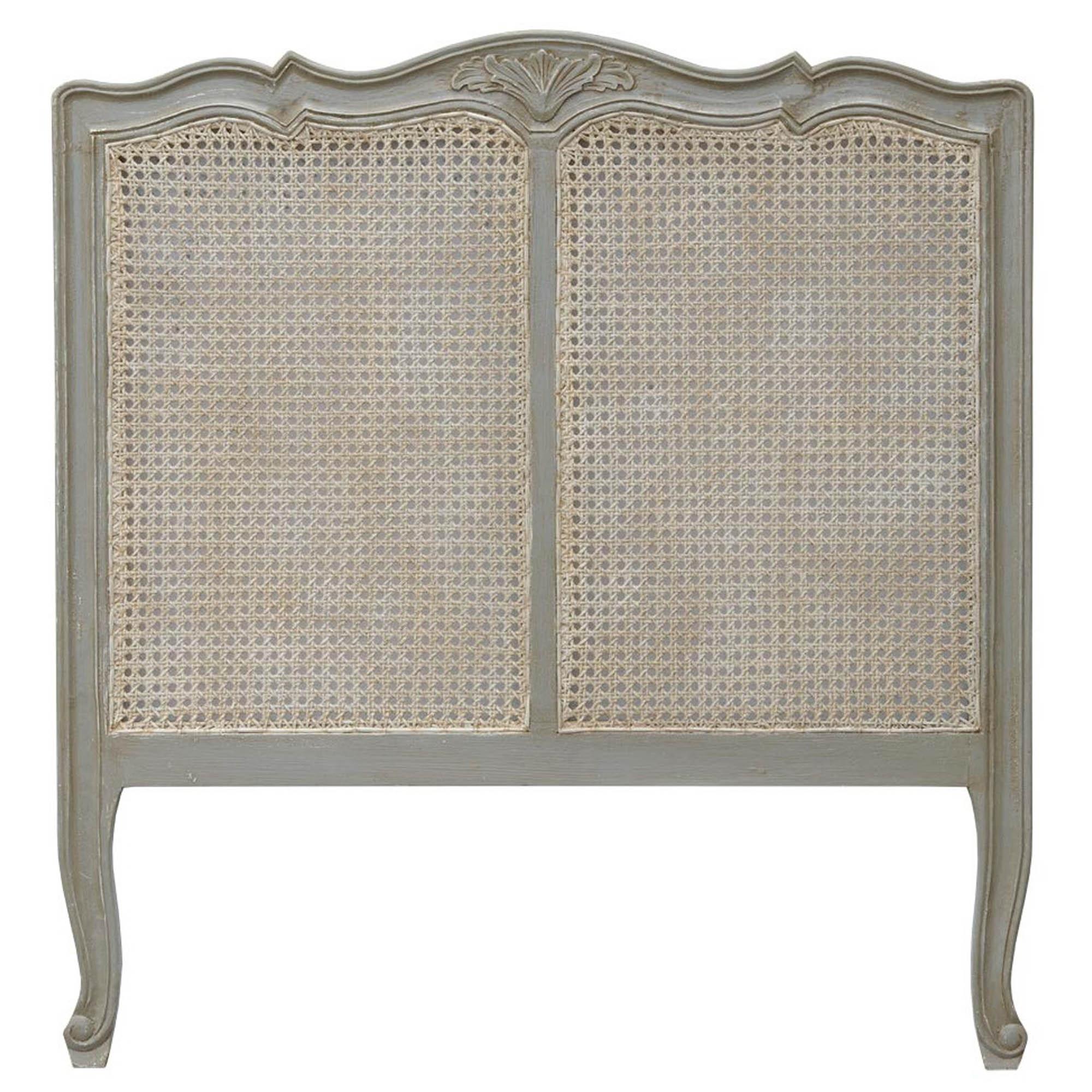 Dusk Grey: Isabella Dusk Grey Antique French Style Headboard