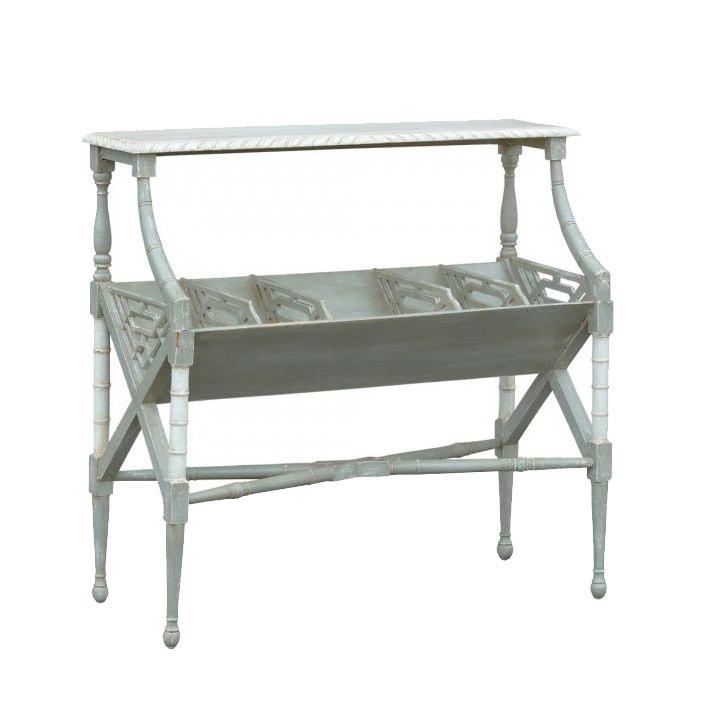 Isabella Dusk Shabby Chic Magazine Rack French Furniture