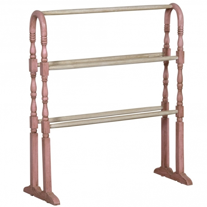 Isabella Free Standing Shabby Chic Towel Rail