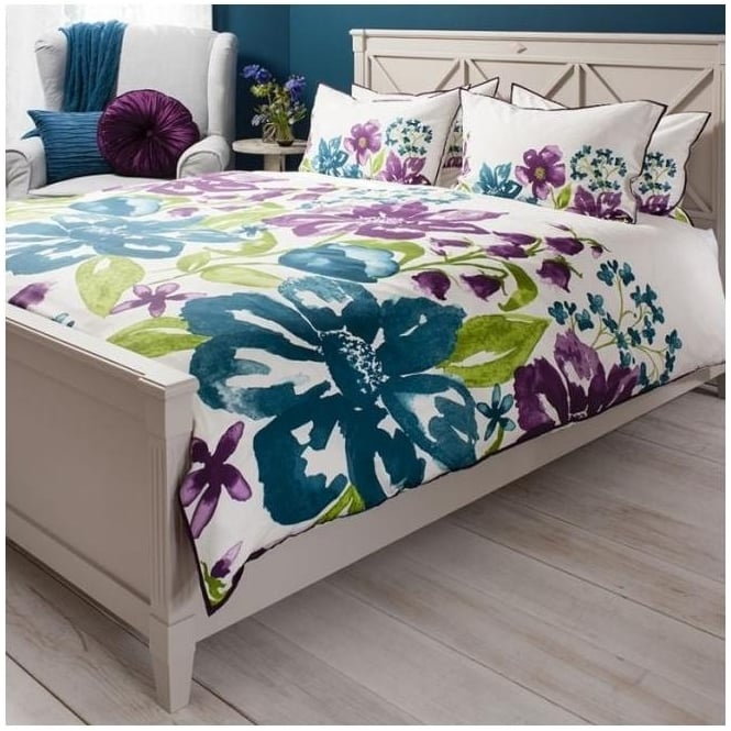 Isabella Plum Watercolour Quilt Cover Set