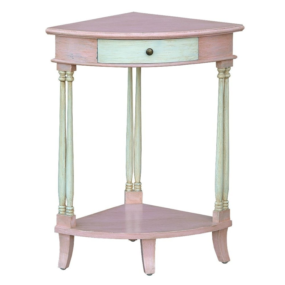 Isabella shabby chic corner side table french furniture for Corner side table