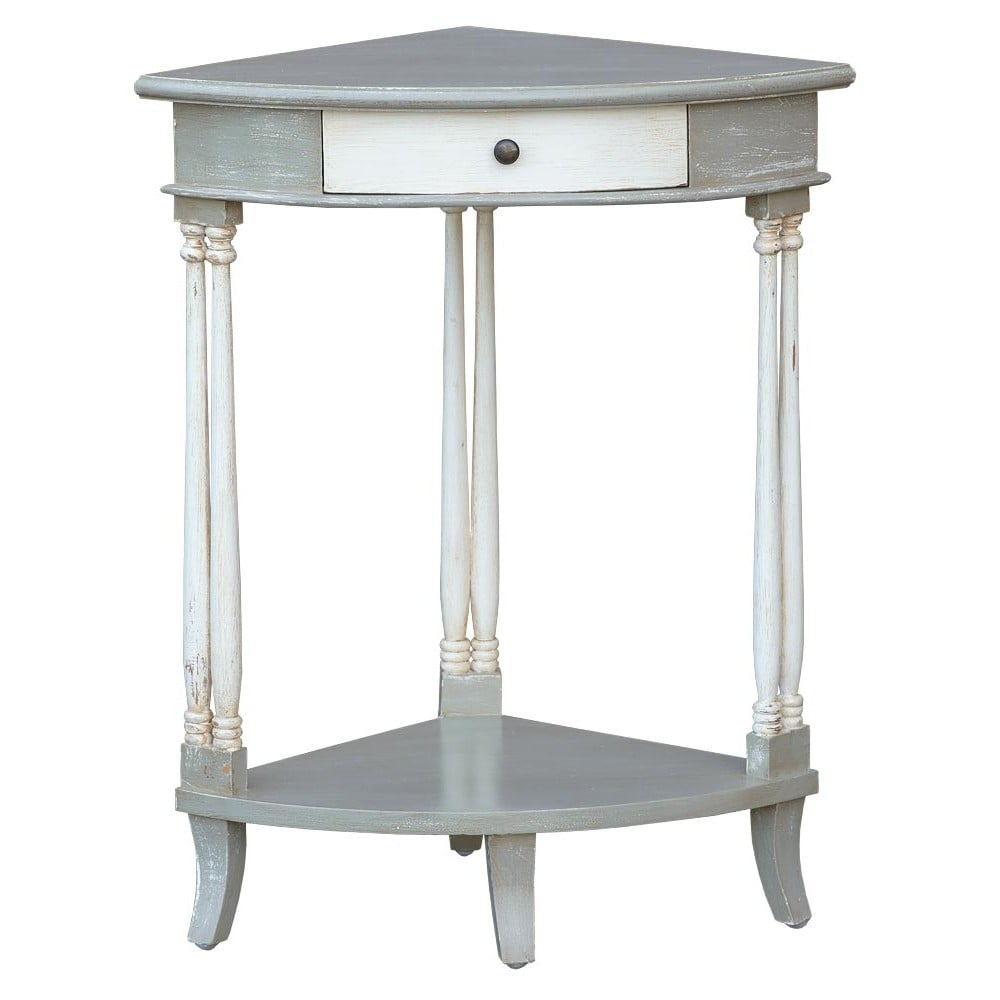 Shabby Chic Corner Coffee Table: IsaBella Shabby Chic Corner Side Table
