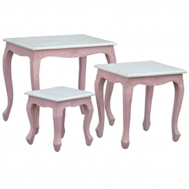 IsaBella Shabby Chic Nest Of Tables