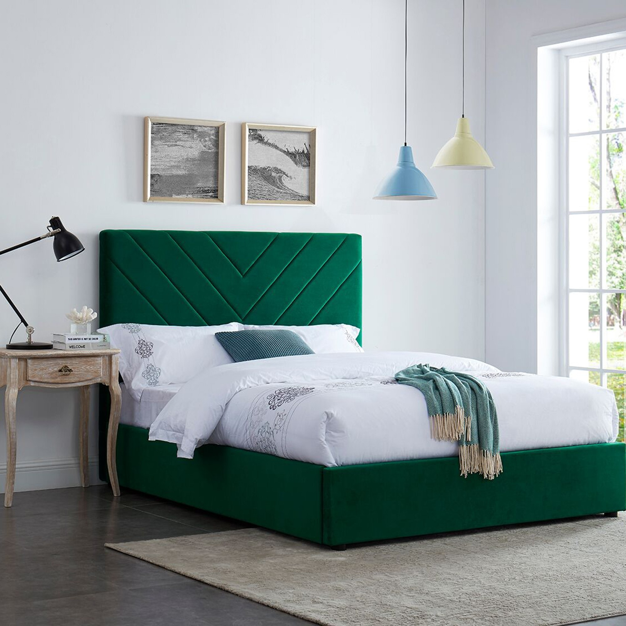 islington green double bed  green double bed  green