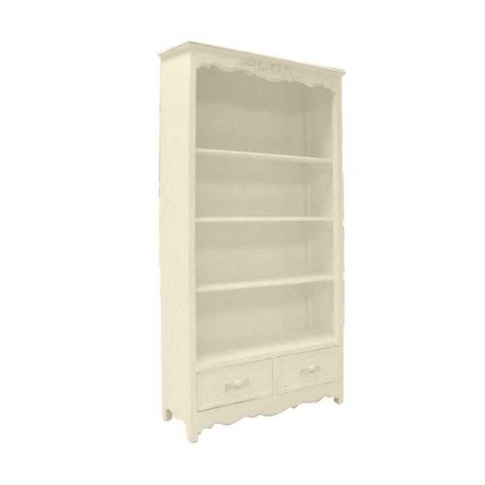 Ivory Antique French Style Bookshelf