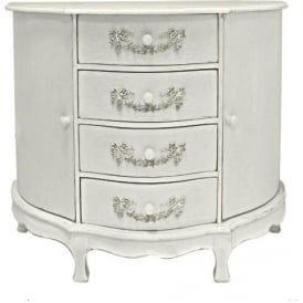 Ivory Antique French Style Cabinet