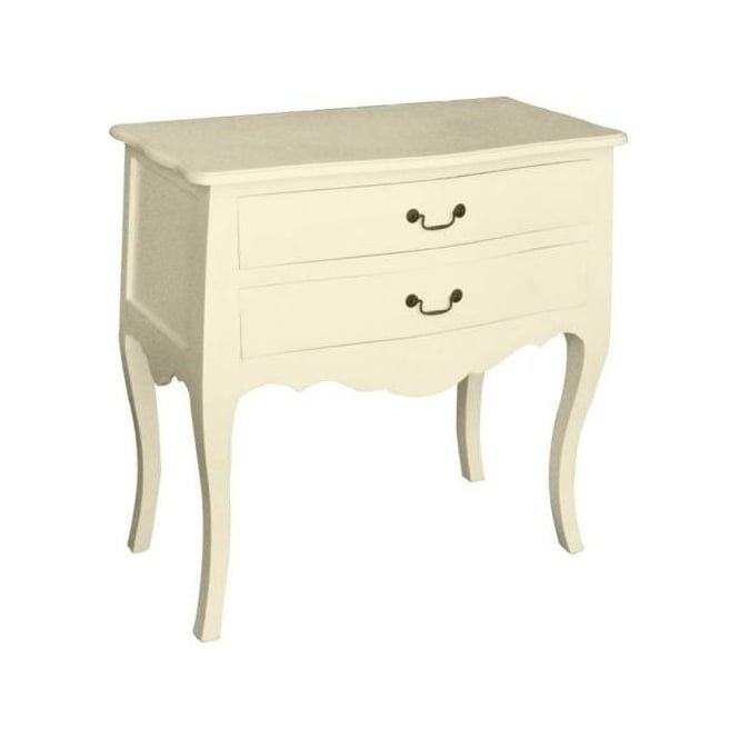 Ivory Antique French Style Chest Of Drawers