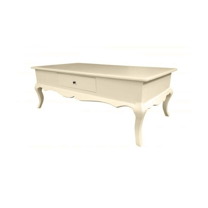 Antique French Coffee Table Ivory Shabby Chic Furniture