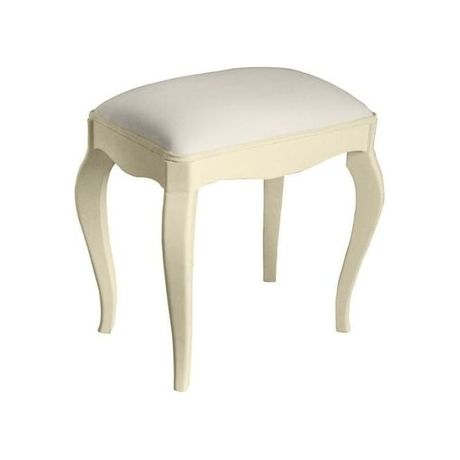Ivory Antique French Style Stool