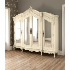 Ivory Antique French Style Wardrobe