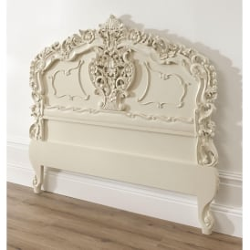 Ivory Rococo Antique French Style Headboard