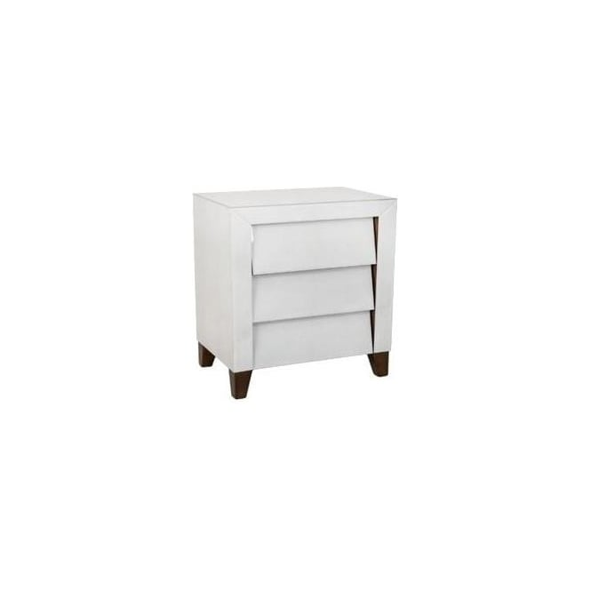 Ivory Shagreen Bedside Table
