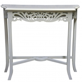 Ivory Solid Mahogany Console Table