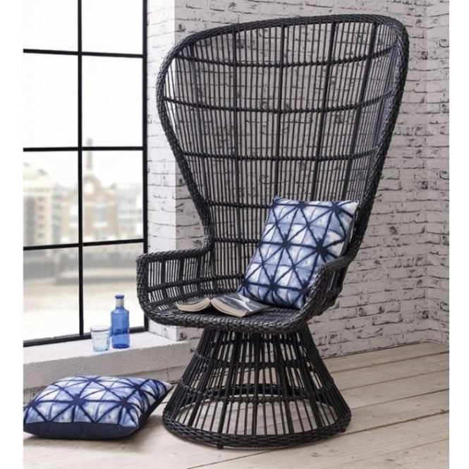 Josephine Faux Weave Lounge Chair