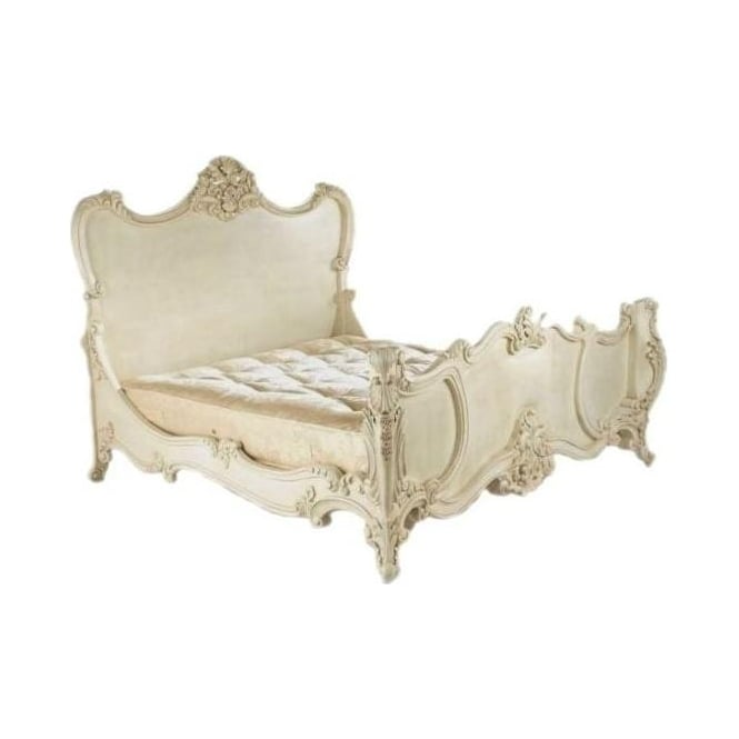 Josephine Louis XV Ivory Antique French Style Bed