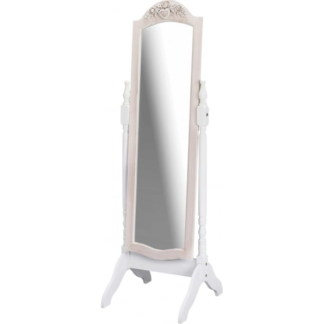 Juliette Antique French Style Cheval Mirror Shabby Chic