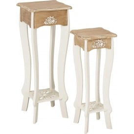 Juliette Shabby Chic Set Of 2 Plant Stands