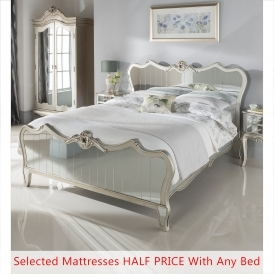 Kingsize Argente Mirrored Bed Half Price Mattress Bundle