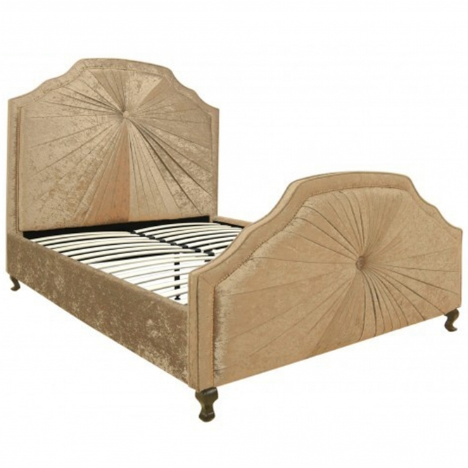 Kingsize Aurora Gold Fabric Bed