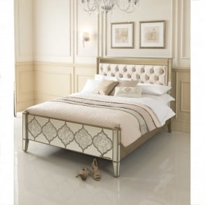 Kingsize Sassari Mirrored Bed