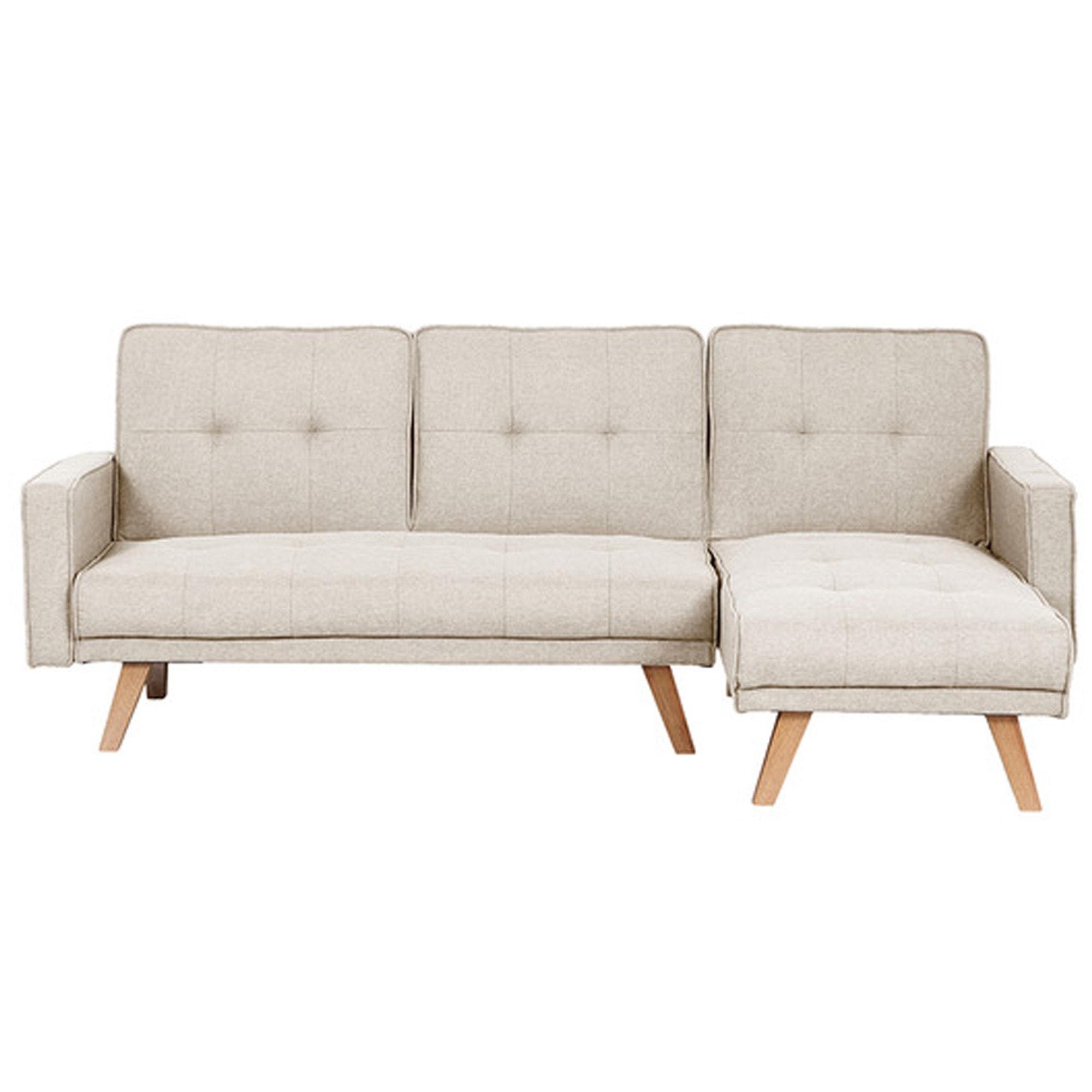 Kitson Beige Corner Sofa Bed