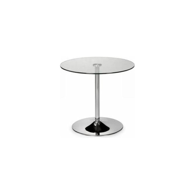 Kudos Chrome & Glass Pedestal Table