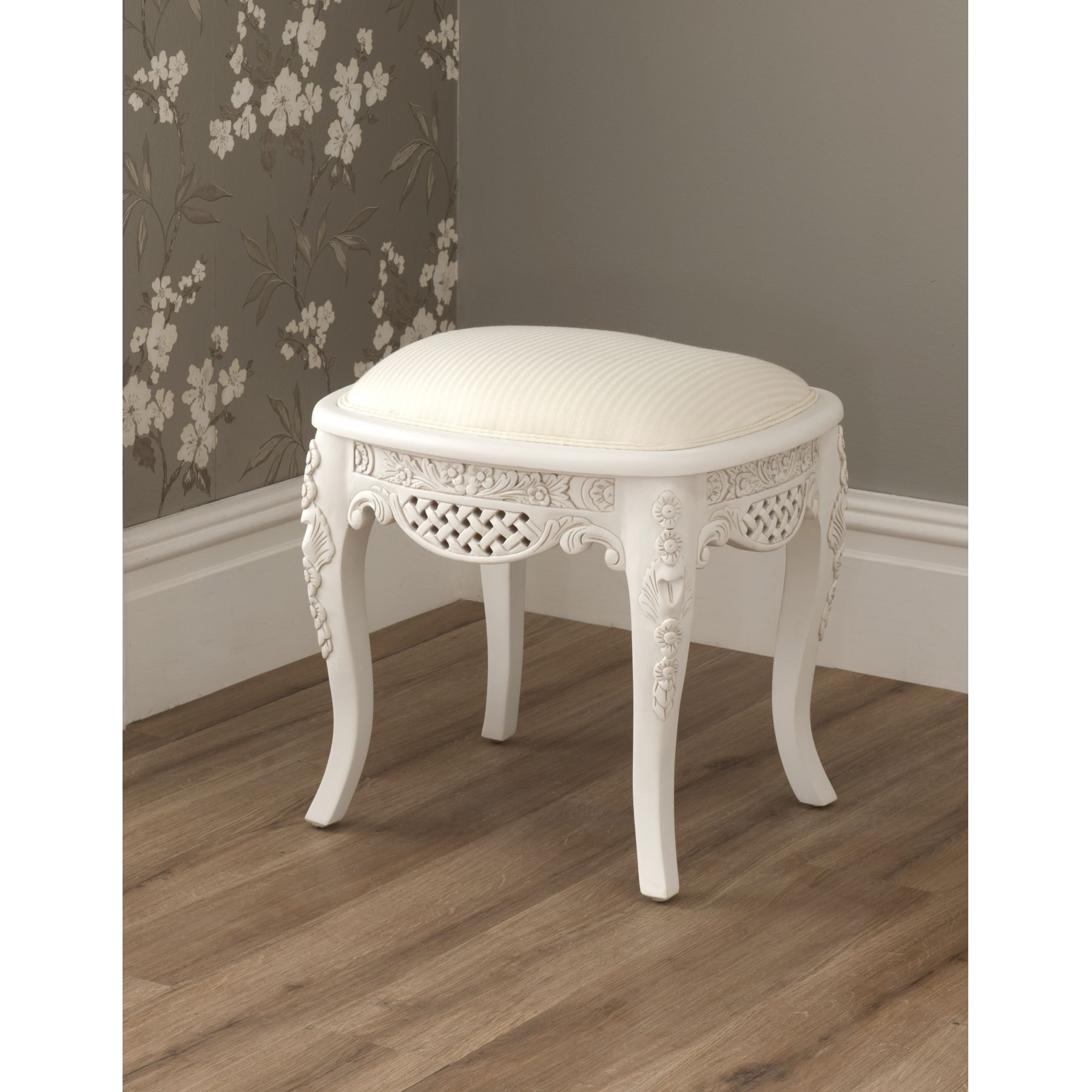 White Antique French Dressing Table Set