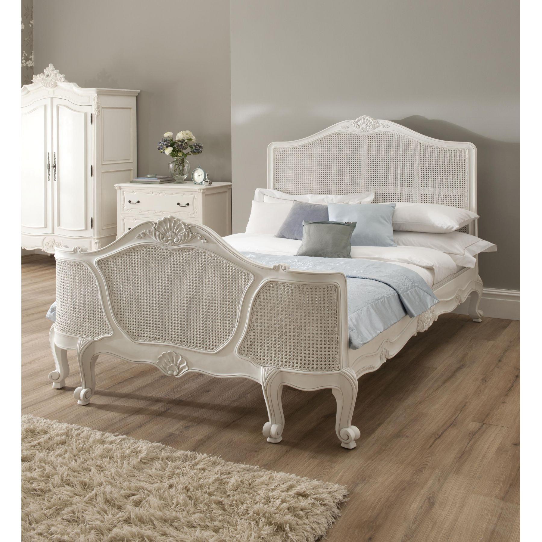 La Rochelle Antique French Rattan Bed  Size  Double    Mattress   Bundle  Deal. Rochelle Antique French Rattan Bed  Size  Double    Mattress