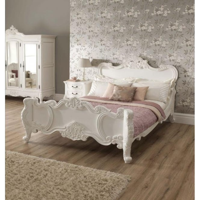 French Bed And Mattress Bundle Deal, White French Bedroom Furniture Sets Uk