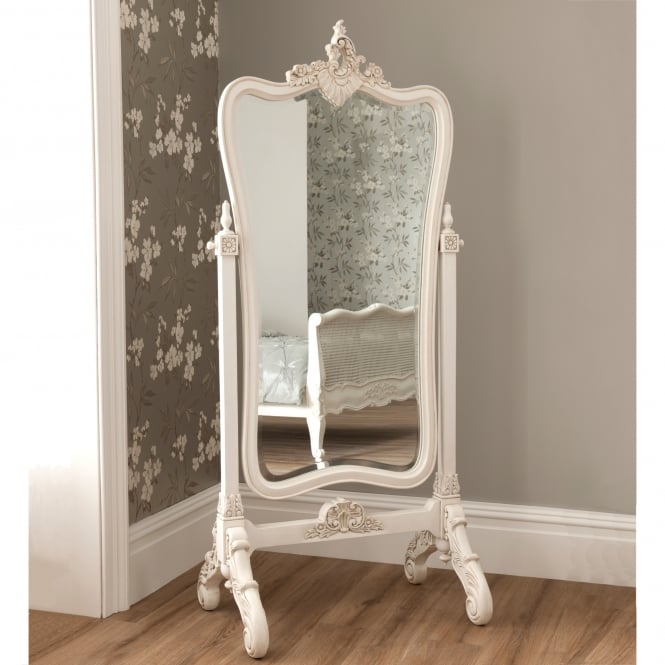 La Rochelle Antique French Style Cheval Mirror