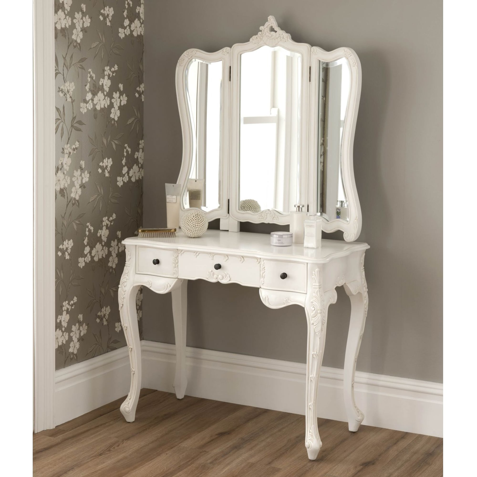La rochelle antique french dressing table shabby chic for White dressing table for sale