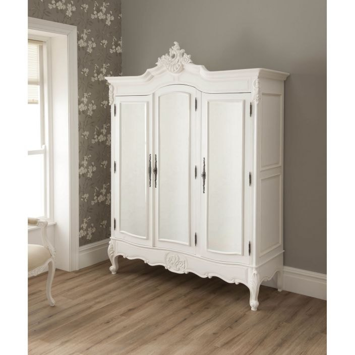 La Rochelle Antique French Style Wardrobe Shabby Chic