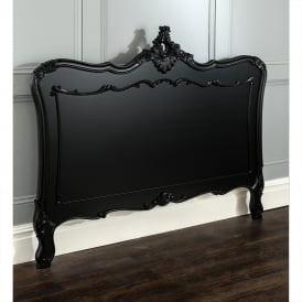 La Rochelle Black Antique French Style Headboard