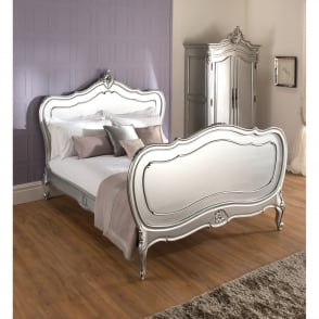 La Rochelle Lille Antique French Silver Bed (Size: Super King)