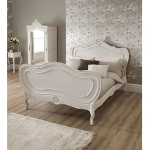 La Rochelle Lille Antique French Bed (Size: Double)