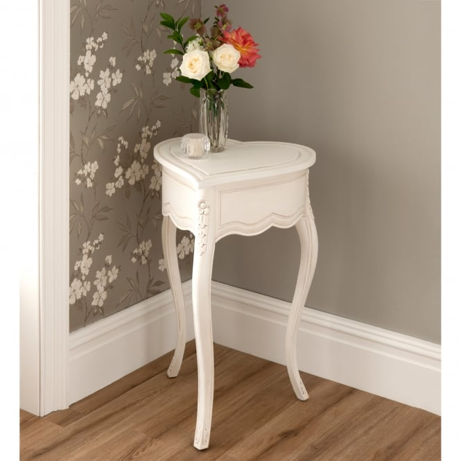 La Rochelle Love Heart Antique French Style Side Table