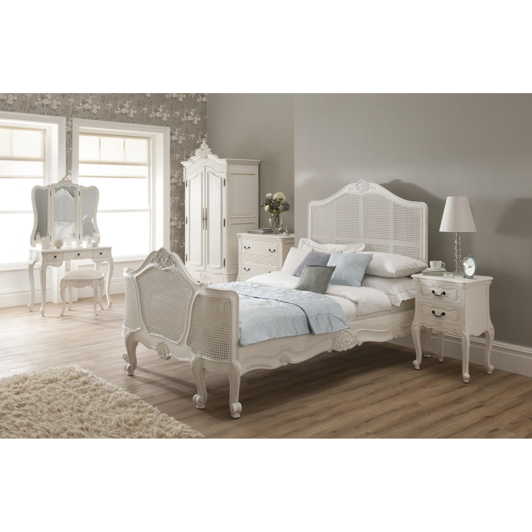 18bb32550bfd6 La Rochelle Rattan Antique French Style Bed