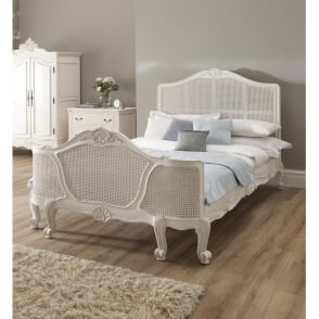 La Rochelle Rattan Antique French Bed (Size: Single)