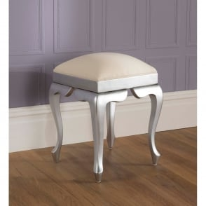 La Rochelle Silver Antique French Style Stool