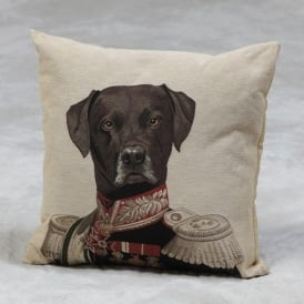 Labrador Commodore Tapestry Cushion