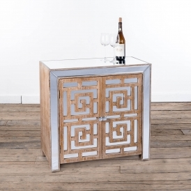 Labyrinth Mirrored Wooden Cabinet