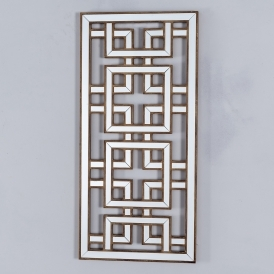 Labyrinth Mirrored Wooden Gold Wall Mirror