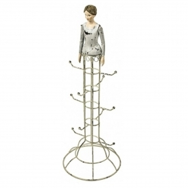 Lady Statuette Jewellery Stand